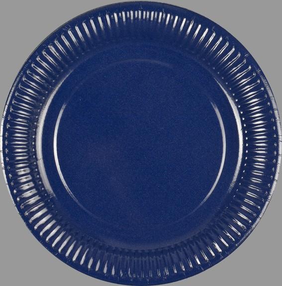 100 Pappteller Blau Rund 23 Cm Beschichtet: pappteller blau