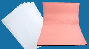 Einschlagpapiere und Zuschnitte