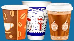 Kaffeebecher und Glühweinbecher