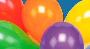 Luftballons bunt gemischt