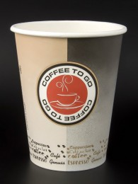 "100 Coffee to go Becher, 300 ml, ""Coffee Seal"" black-beige"