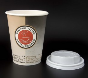 "100 Coffee to go Becher m.D. 300 ml, ""Coffee Seal"" black-beige"