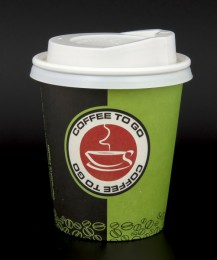 "100 Coffee to go Becher m.D. 200ml, ""Coffee Seal"" GREEN EDITION"